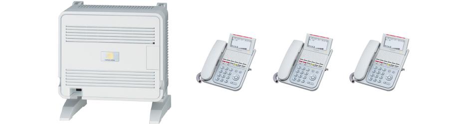交換機+装置基盤(ユニット)+電話機3台セット